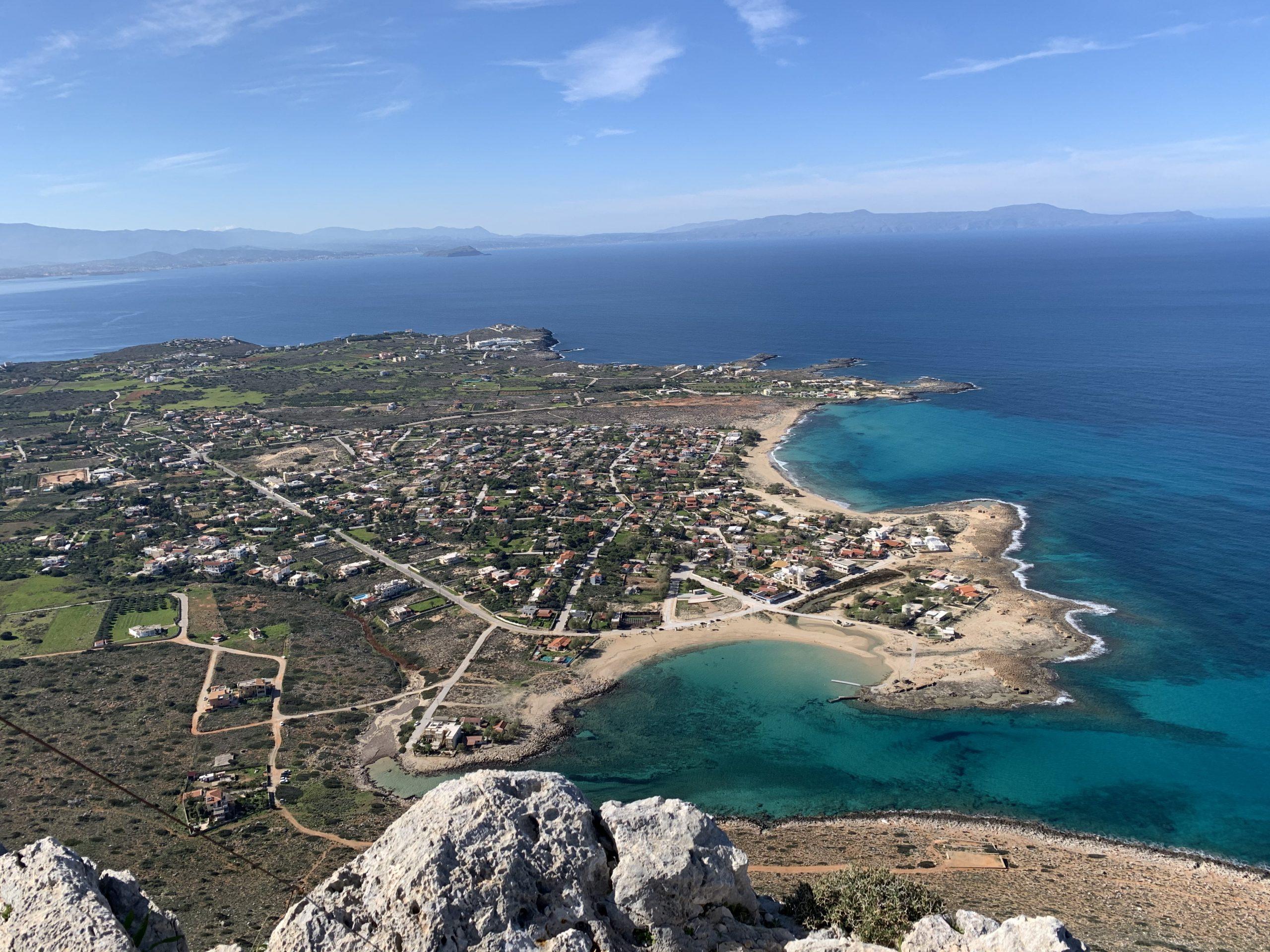 Widok z góry na Stavros